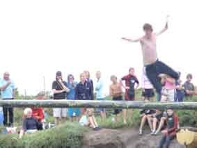 The Greasy Pole Competition Blakeney Quay